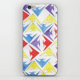 Watercolor Origami Angelfish iPhone Skin