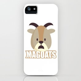 Magoats Funny Goat Herbivore Mammals Wildlife Animal Nature Gift iPhone Case