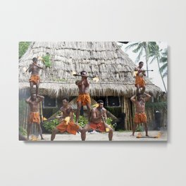 Fire Twirling Metal Print
