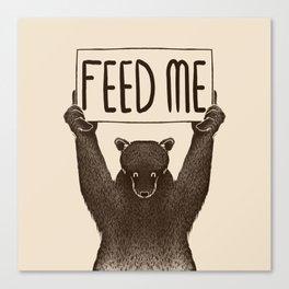 Feed Me Bear Canvas Print