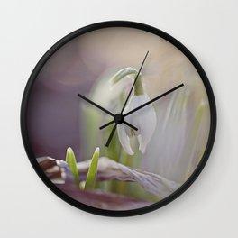 Snow Drop Wall Clock