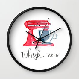 Red Stand Mixer - kitchen art, baker Wall Clock