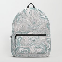 Glamorous Marble Teal and Smoke Pink Backpack
