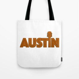 Retro Austin Texas Tote Bag
