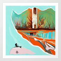 wave Art Prints featuring Wave by Tharika Fuhrer