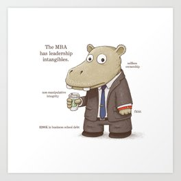 The MBA Art Print