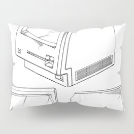 Apple Macintosh Patent - Apple Art - Black And White Pillow Sham