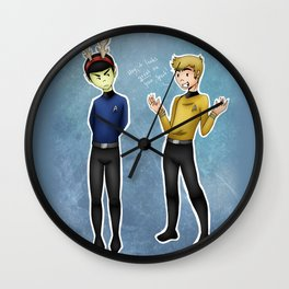 """""""Hey, it looks great on you!"""" Wall Clock"""