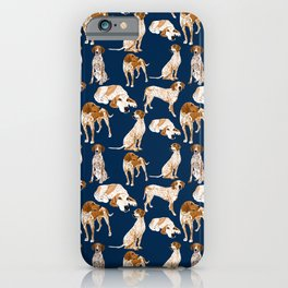 Redtick Coonhounds on Navy iPhone Case