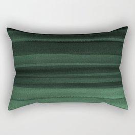 Green Watercolor Ombre Rectangular Pillow