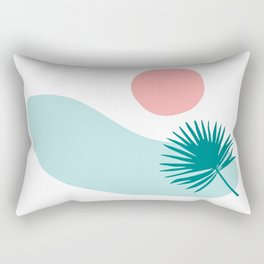 Tropical Beach, Minimalist Abstract Illustration Rectangular Pillow
