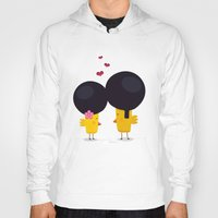 afro Hoodies featuring Afro Love by Piktorama