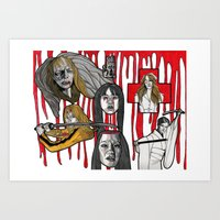 kill bill Art Prints featuring Kill Bill by mothermary