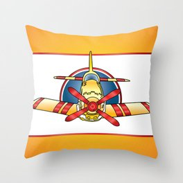 Airplane Print Throw Pillow