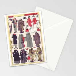 Japanese Paper Dolls, 1897 Stationery Cards