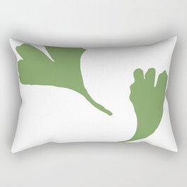 Minimalist Ginkgo Leaves Rectangular Pillow