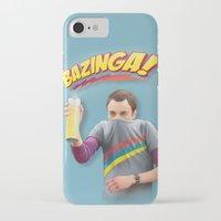 bazinga iPhone & iPod Cases featuring Sheldon  - BAZINGA! by ShannonPosedenti