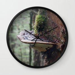 Magical Fungi World | Nature Photography Wall Clock