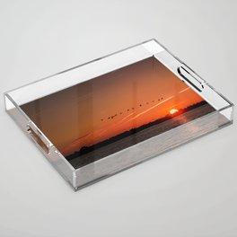 Flight Over the Sun Acrylic Tray