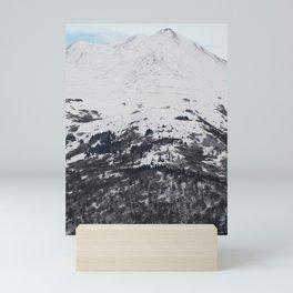 Snow Covered Mountainside Mini Art Print