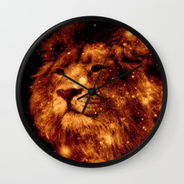 Cosmic Leo Lion Wall Clock