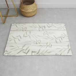 Green Farmhouse Botanical Rug