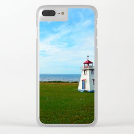 Tiny Lighthouse and Giant Bridge Clear iPhone Case
