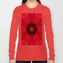 Pink Flower Abstract Long Sleeve T-shirt