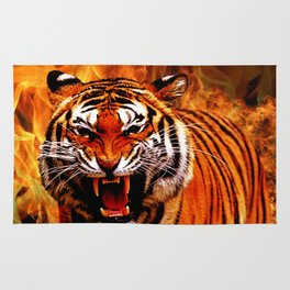Tiger and Flame Rug