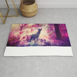 Alone in the Magic forest Rug