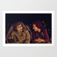 larry stylinson Art Prints featuring Larry Stylinson - This is Us Campfire by Aki-anyway