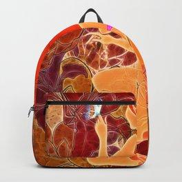 Frau mit roten Haaren und Schmetterling Backpack