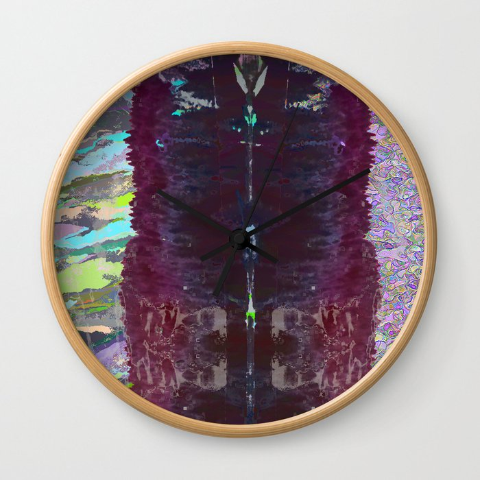 landscape collage #07 Wall Clock