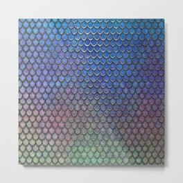 Colorful Silver II Mermaid Scales Metal Print
