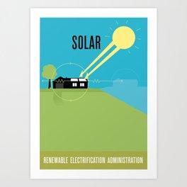 Renewable Electrification Administration - Solar Art Print