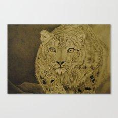 The Snow Hunter Canvas Print