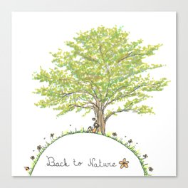 Back to nature - Sitting under a tree Canvas Print