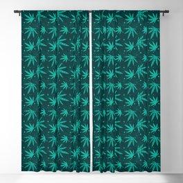 Marijuana leaf seamless pattern background Blackout Curtain
