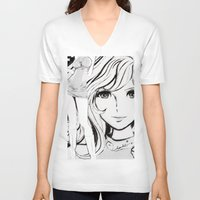 sketch V-neck T-shirts featuring SKETCH by Chandelina