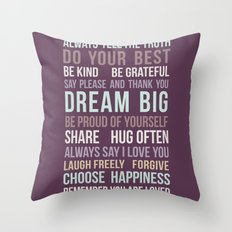 House Rules 2 Throw Pillow