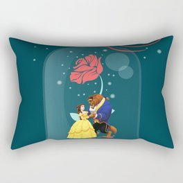 Beauty and the Beast Rose Rectangular Pillow