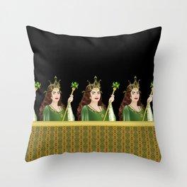 Queen of Clubs Throw Pillow