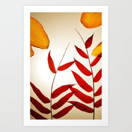 Into the Leaves  Art Print