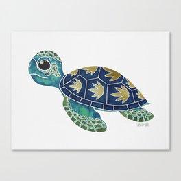 Cute Blue Sea Turtle Canvas Print