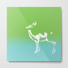 Spring is in the air deer 2 Metal Print