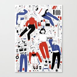 red and blue collection Canvas Print