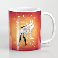 swan Mugs featuring Swan by Freeminds