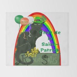 Chat De La St Patrick De Rodolphe Salis Throw Blanket