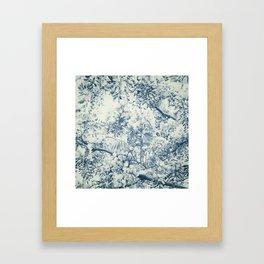 Darwinian Indigo Framed Art Print