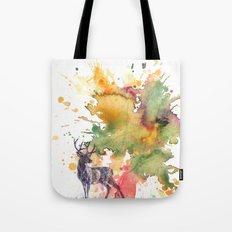 Buck Deer in Splash of Color Tote Bag